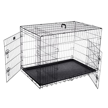 Trex 2193 ABS 42 pulgadas de mascota Perro plegable Crate Pet - Caseta para perros, gatos o conejos, 42 por mascota Trex: Amazon.es: Productos para mascotas
