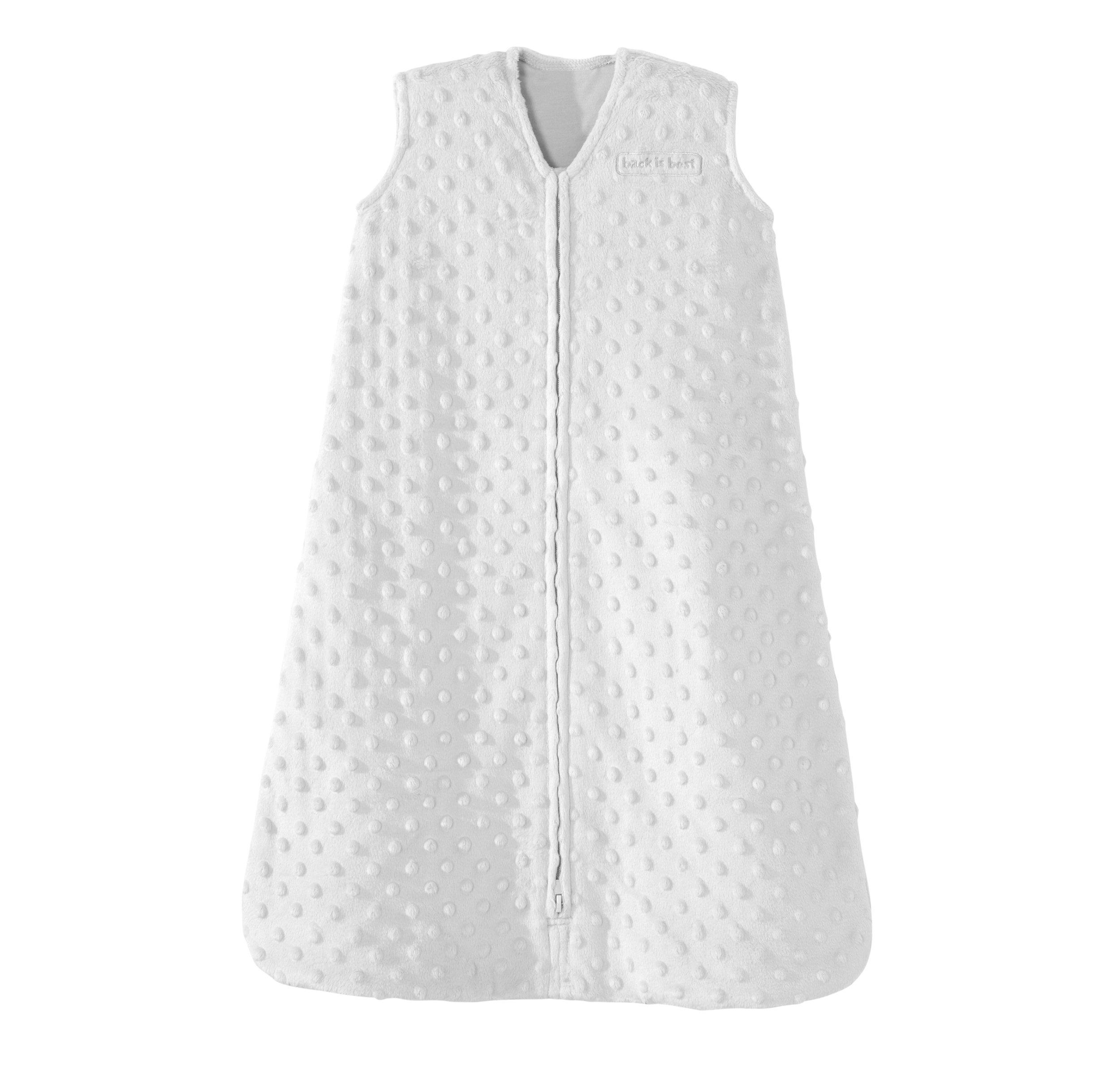 Halo SleepSack Plush Dot Velboa Wearable Blanket X Large Silver