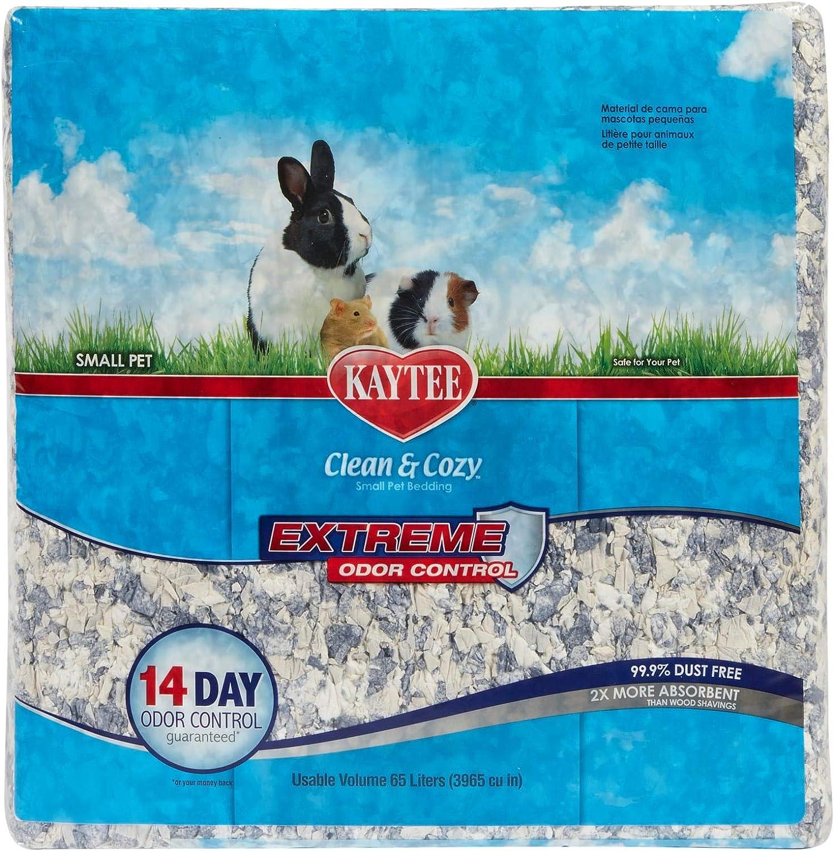 Kaytee Superpet, Clean & Cozy para Animales Pequeños, Ratones, Jerbos, Roedores, Hámsteres, Camas para Conejos, Control de Olores Fuertes, 65 litros 3240 g