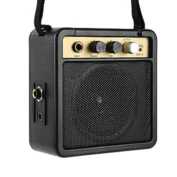E-Wave Mini eléctrico E-Wave Amplificador de Guitarra con el Altavoz Accesorios para Guitarra: Amazon.es: Electrónica