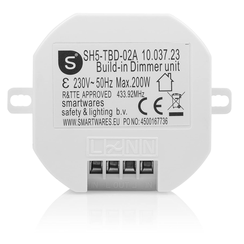 Smartwares SH5-RBS-10A SmartHome Funk-Einbauschalter 1000 Watt