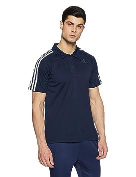 adidas D2M 3S Polo de tennis pour homme, Bleu (Maruni), XXL