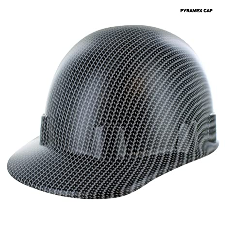 Black Carbon Fiber Style Hydro Dipped Hard Hat Pyramex Cap