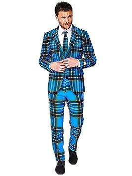 OppoSuits Trajes de Navidad Divertidos - Traje Completo: Chaqueta, Pantalones y Corbata