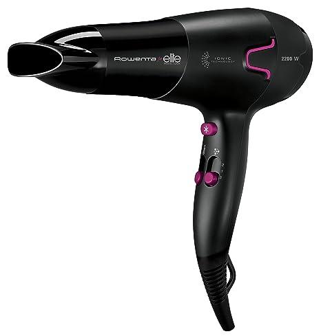 Rowenta CV5622 2200W Negro secador - Secador de pelo (Negro, Anilla para colgar,