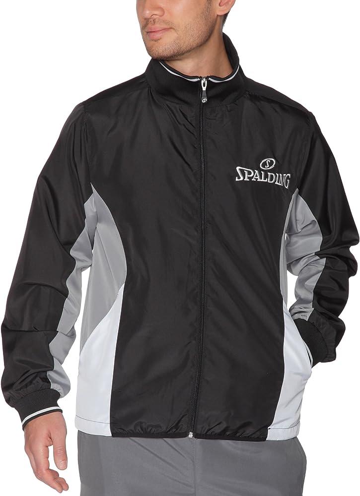 Spalding Jacket Chaqueta De Chandal, Hombre, Negro, S: Amazon.es ...