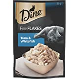 DINE Fine Flakes Tuna and Whitefish Wet Cat Food 35g x 12 Pack