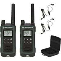 Motorola T465 Two-Way Radio Bundle, Rechargeable, Green