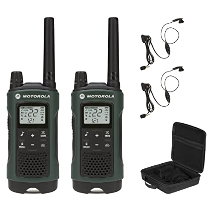 motorola 2 way radio headset. motorola talkabout t465 rechargeable two-way radio bundle (green) 2 way headset