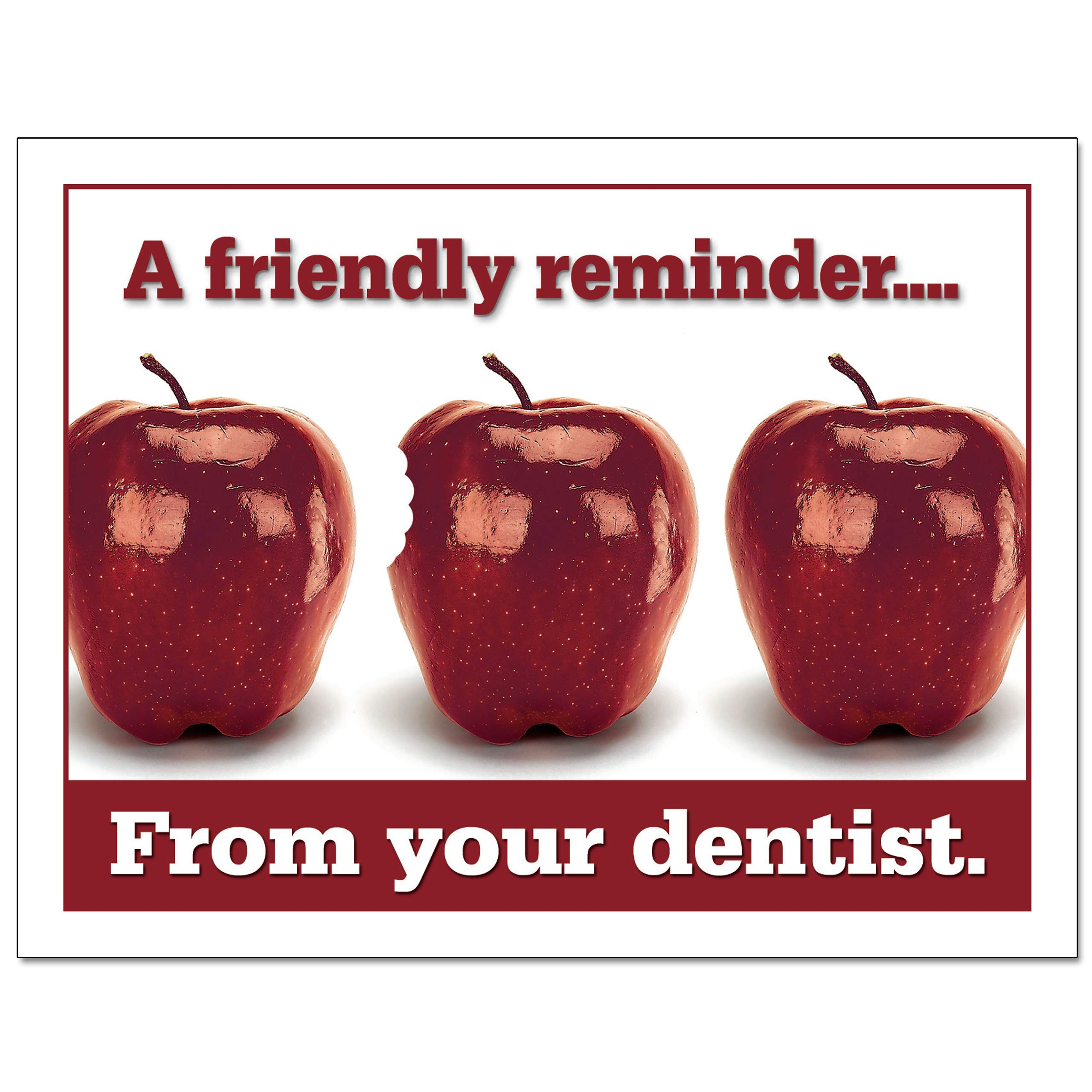 Laser Reminder Postcards, Dental Appointment Reminder Postcards. 4 Cards Perforated for Tear-Off at 4.25'' x 5.5'' on an 8.5'' x 11'' Sheet of 8 Pt Card Stock. DEN106-LZS (5000) by Custom Recall (Image #3)