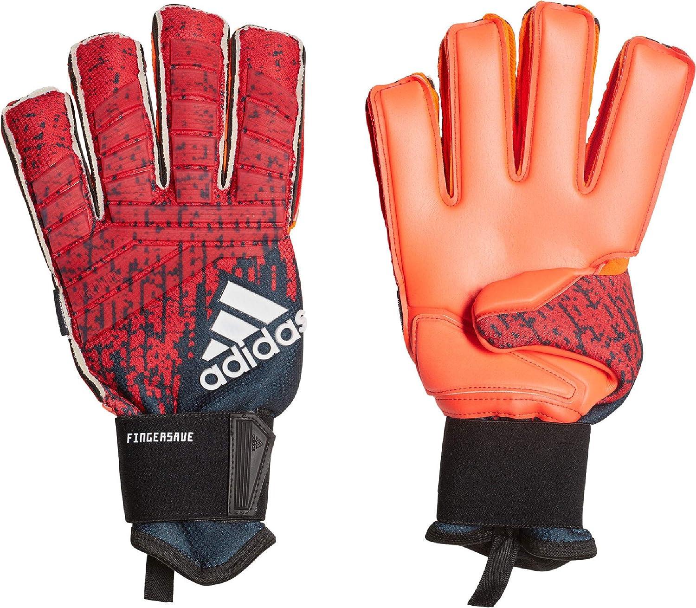 adidas goalkeeper gloves orange and noir