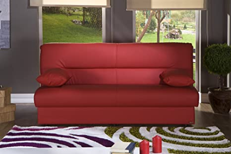Amazon Com Used Sofas Couches Living Room Furniture >> Amazon Com Regata Sofa Sleeper In Escudo Red Kitchen Dining