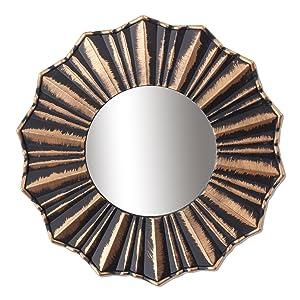 Art Street 'Copper Decorative' Wall Mirror (Plastic, 75 cm x 22 cm x 2 cm, Copper)