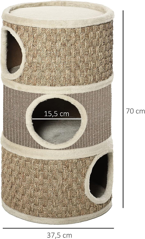 rascadores túnel para gatos de sisal