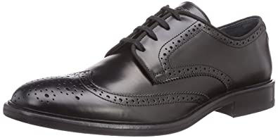 buy online e023a e3992 Strellson Men's Browne Derby Lace Budapester, Black-Schwarz ...