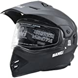 Steelbird SBH-13 Bang Motocross 600mm with Plain Visor Full Face Helmet (Black, L)