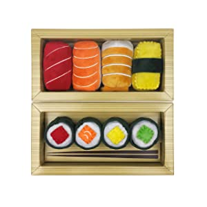 munchiecat Sushi Toys for Cats and Kittens, Organic Catnip | Unique Cat Lover Gift Made with Non-Toxic, Safe, Pet Friendly Materials