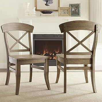 Amazon.com - Riverside Furniture Regan X-Back Dining Side Chair
