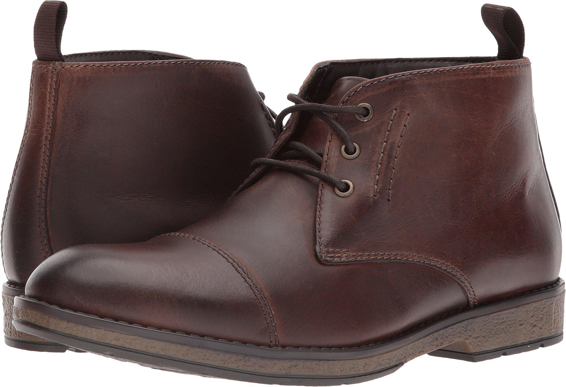 CLARKS Men's Hinman Mid Chukka Boot, Mahogony, 10.5 M US