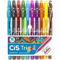 Caneta Gel Cis Trigel Fashion Estojo com 10 unidades, CIS, Trigel 57.6800, Multicor