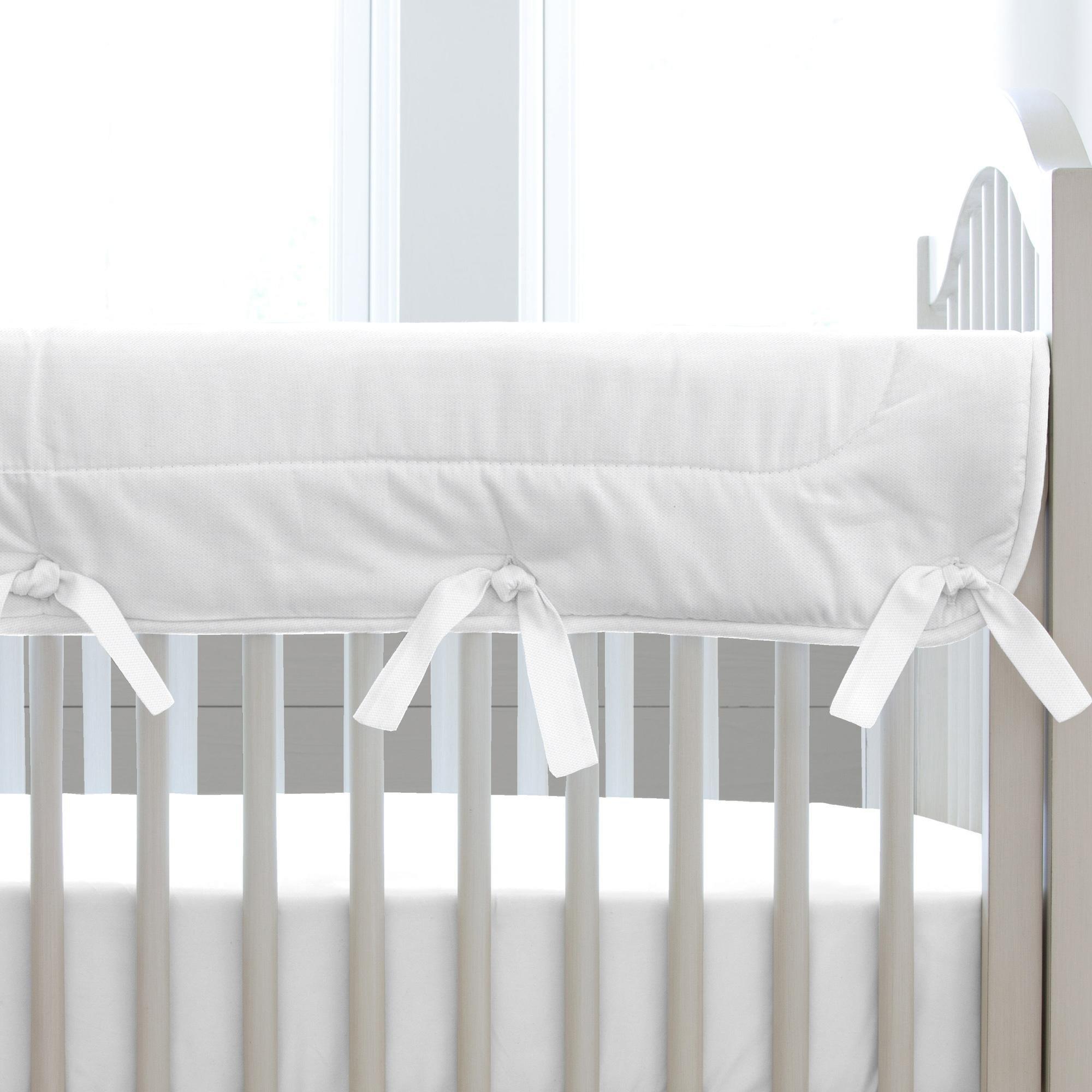 Carousel Designs White Pique Crib Rail Cover