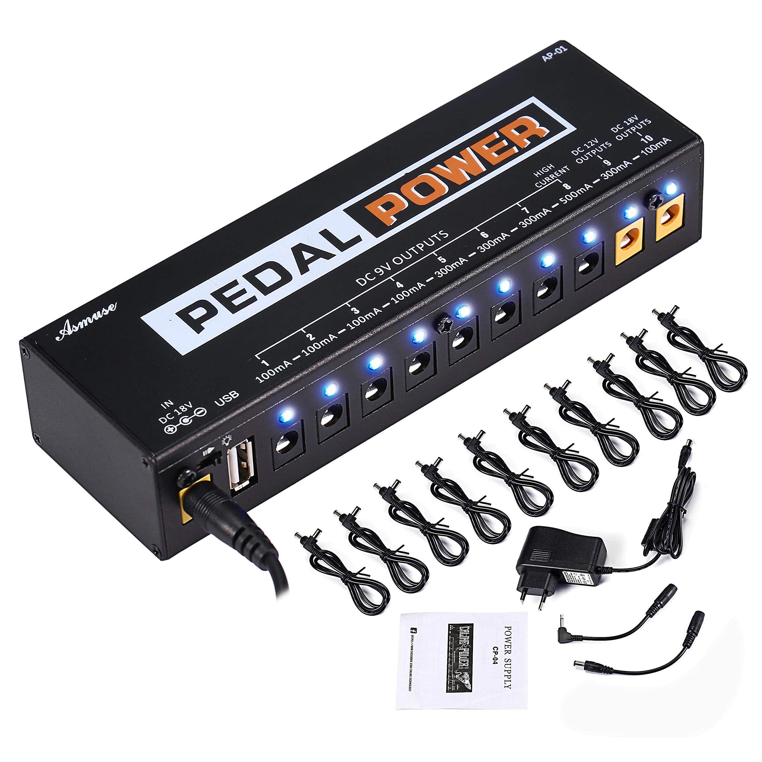 Asmuse™ Fuente de Alimentación de Efectos Pedales Guitar Effect Pedals Power Supply para E Guitarra