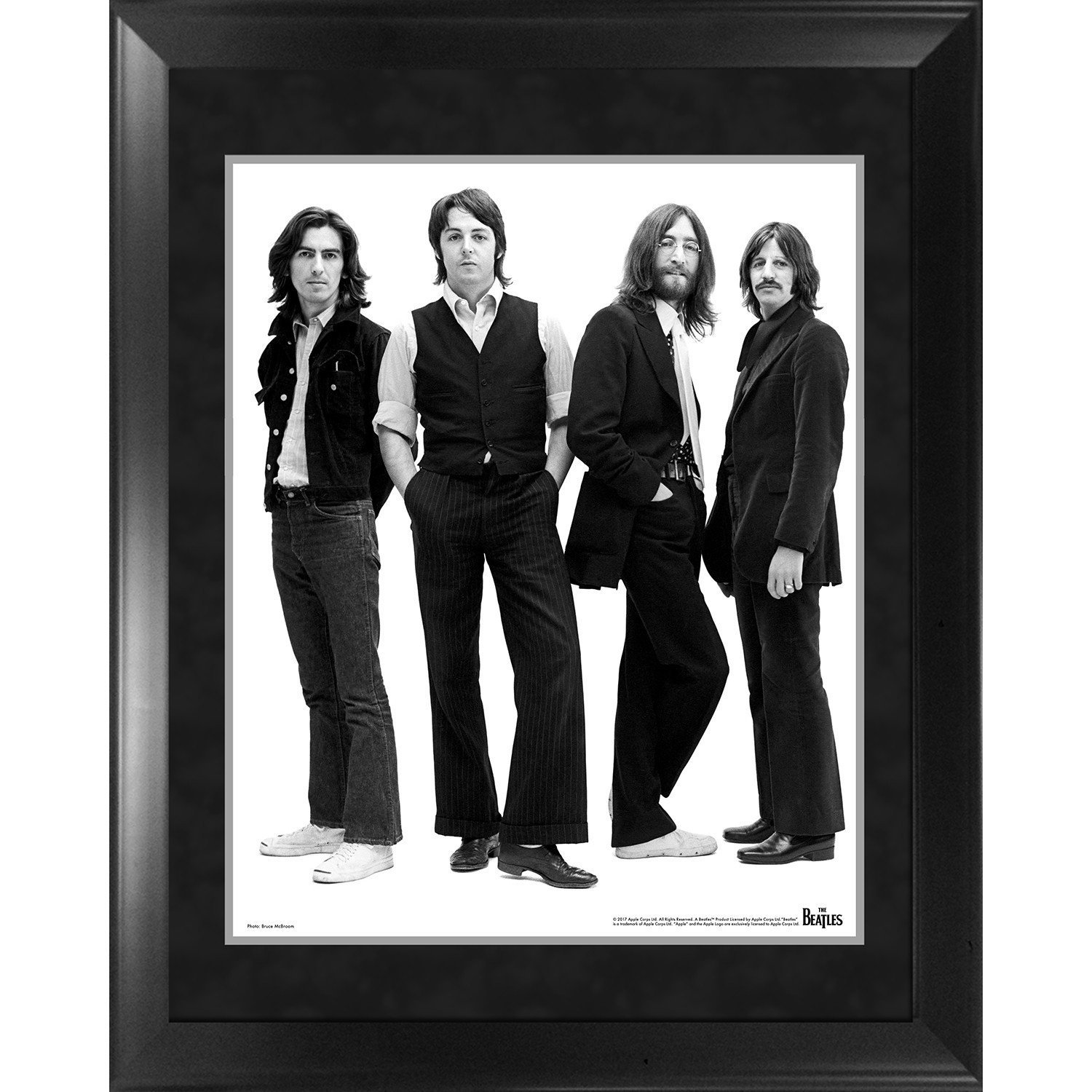 The Beatles Through the Years : 1969á Group Pose White Background Framed 16x20 Photo