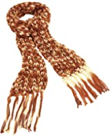GIZZY® Ladies Knitted Brown Tone Tassle Scarf.