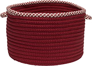 product image for Colonial Mills Hounds Tooth Bright Edge Basket, 18 by 12-Inch, Sangria