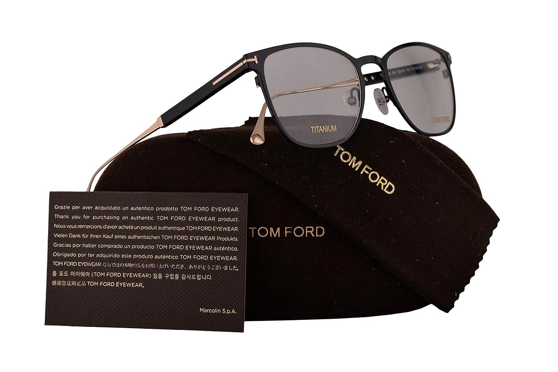 012477a0af64 Amazon.com  Tom Ford FT5483 Eyeglasses 52-19-145 Shiny Black w Demo Clear  Lens 001 TF5483 TF 5483 FT 5483  Clothing