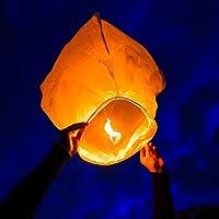 Deal Bindaas Flying Saucer Sky Lantern (Assorted_Paper_Pack of 25)