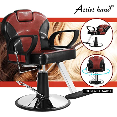 Stupendous Artist Hand Reclining Barber Chair All Purpose Salon Chair For Hair Stylist Tattoo Chair Stylist Chairs Salon Equipment Theyellowbook Wood Chair Design Ideas Theyellowbookinfo