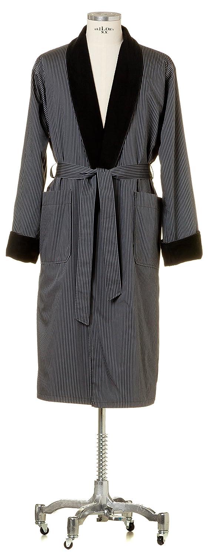 Möve Homewear Leichter Morgenmantel mit Frottierfutter in Gr. L aus 100 % Baumwolle, dark Grau
