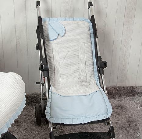 Babyline Destellos - Colchoneta ligera para silla de paseo, color azul