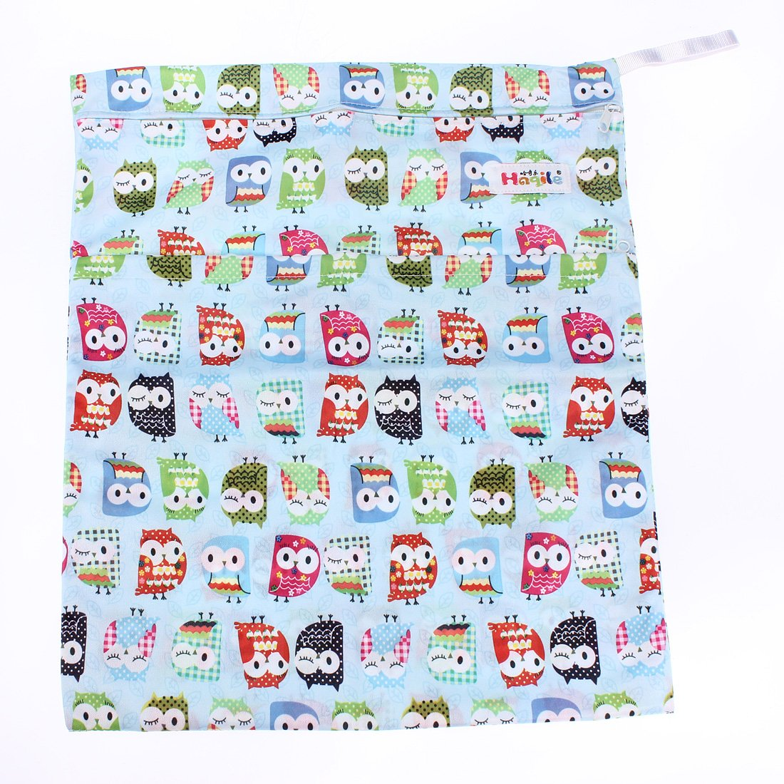 Baby Waterproof Zipper Bag Washable Reusable Baby Cloth Diaper Bag Nollmit