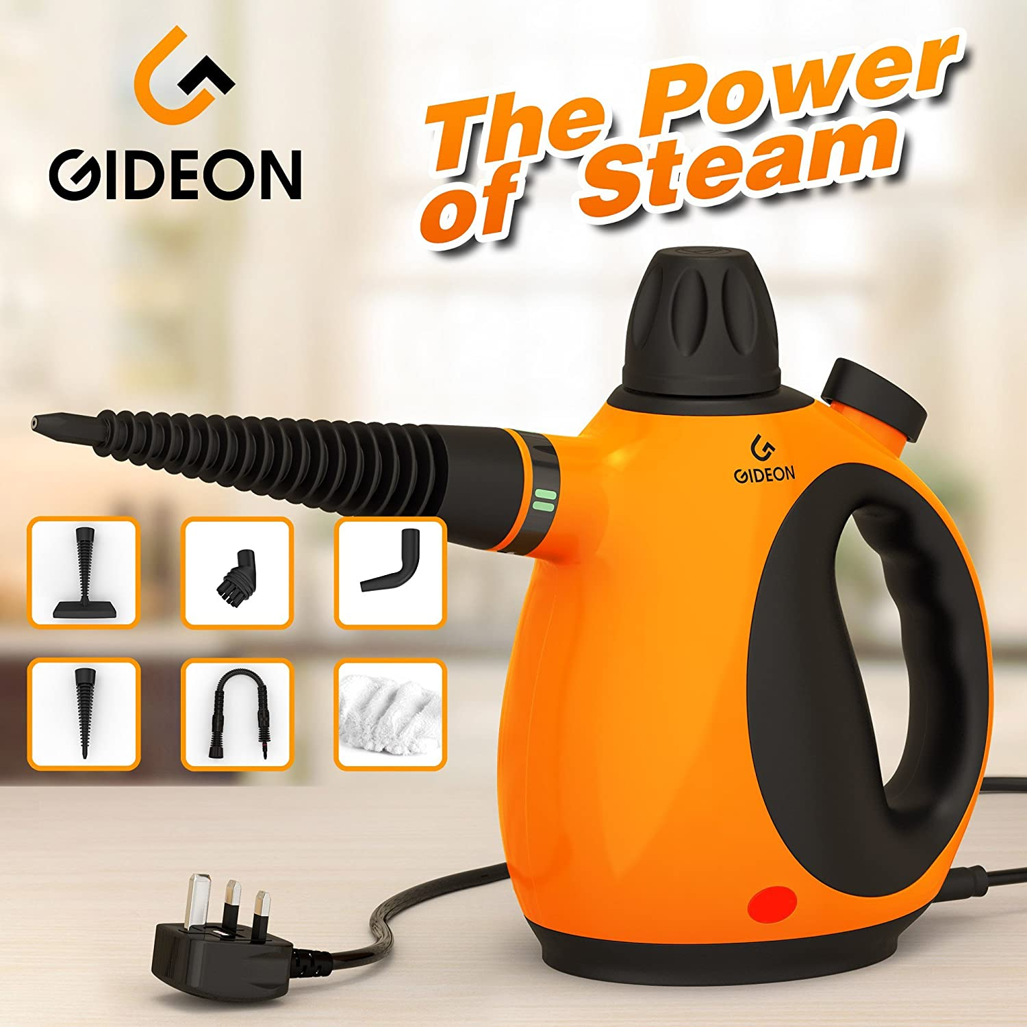 Gideontm Handheld Pressurized Steam Cleaner And Diagram Parts List For Model 1960 Bissellparts Wetcarpetcleaner Sanitizer Powerful Multi Purpose Steamer Removes Stains Grease Mold Etc Disinfects