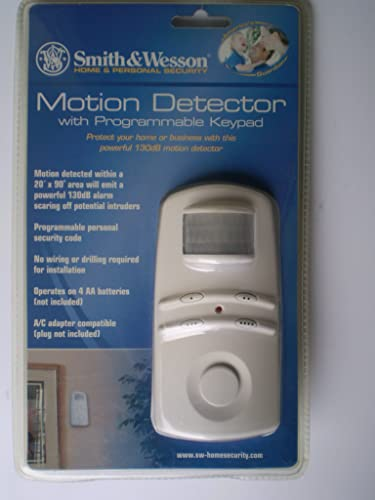 Smith Wesson Motion Detector with Programmable Keypad
