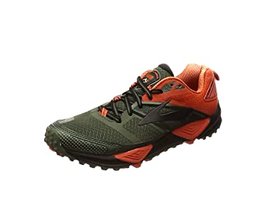 Brooks Men's Cascadia 12 Black/Turkish Tile/Andean Toucan 7 D US