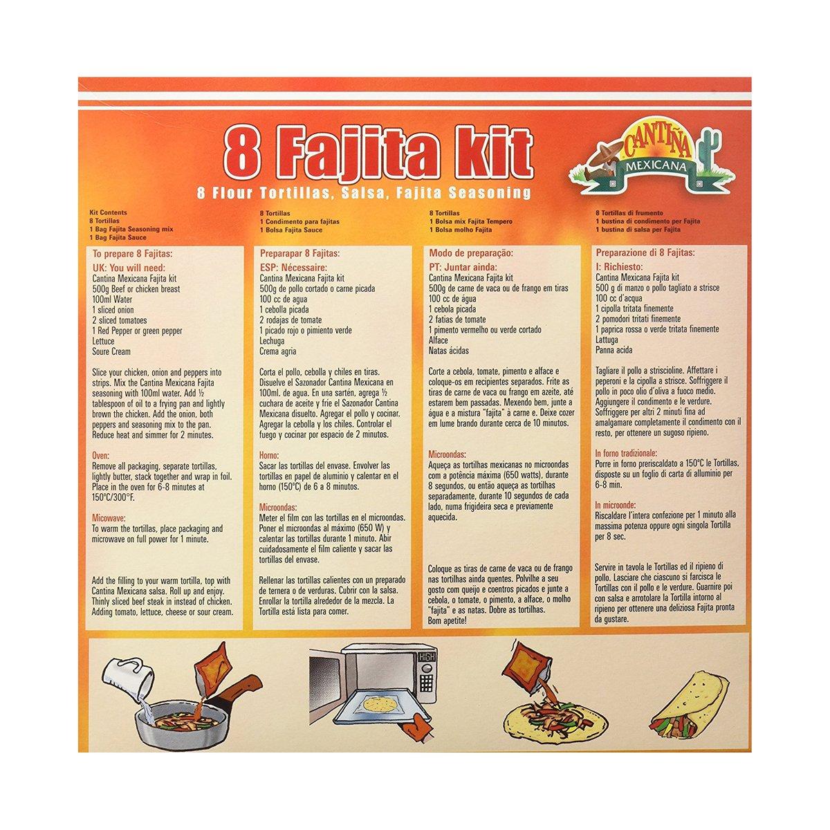 Fajita - Cantina mexicana, 470g, kit de 8 tortillas: Amazon.es: Alimentación y bebidas
