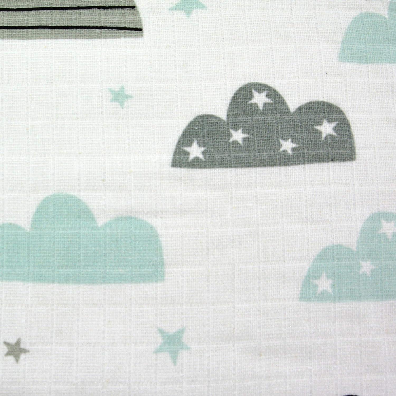 10x Spuckt/ücher Mullwindeln Baby Baumwolle 80x70 cm /ÖKO-TEX Sterne