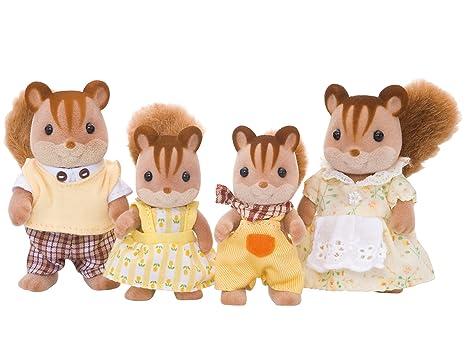 SYLVANIAN FAMILIES- Walnut Squirrel Family Mini Muñecas y Accesorios, (Epoch para Imaginar 4172)