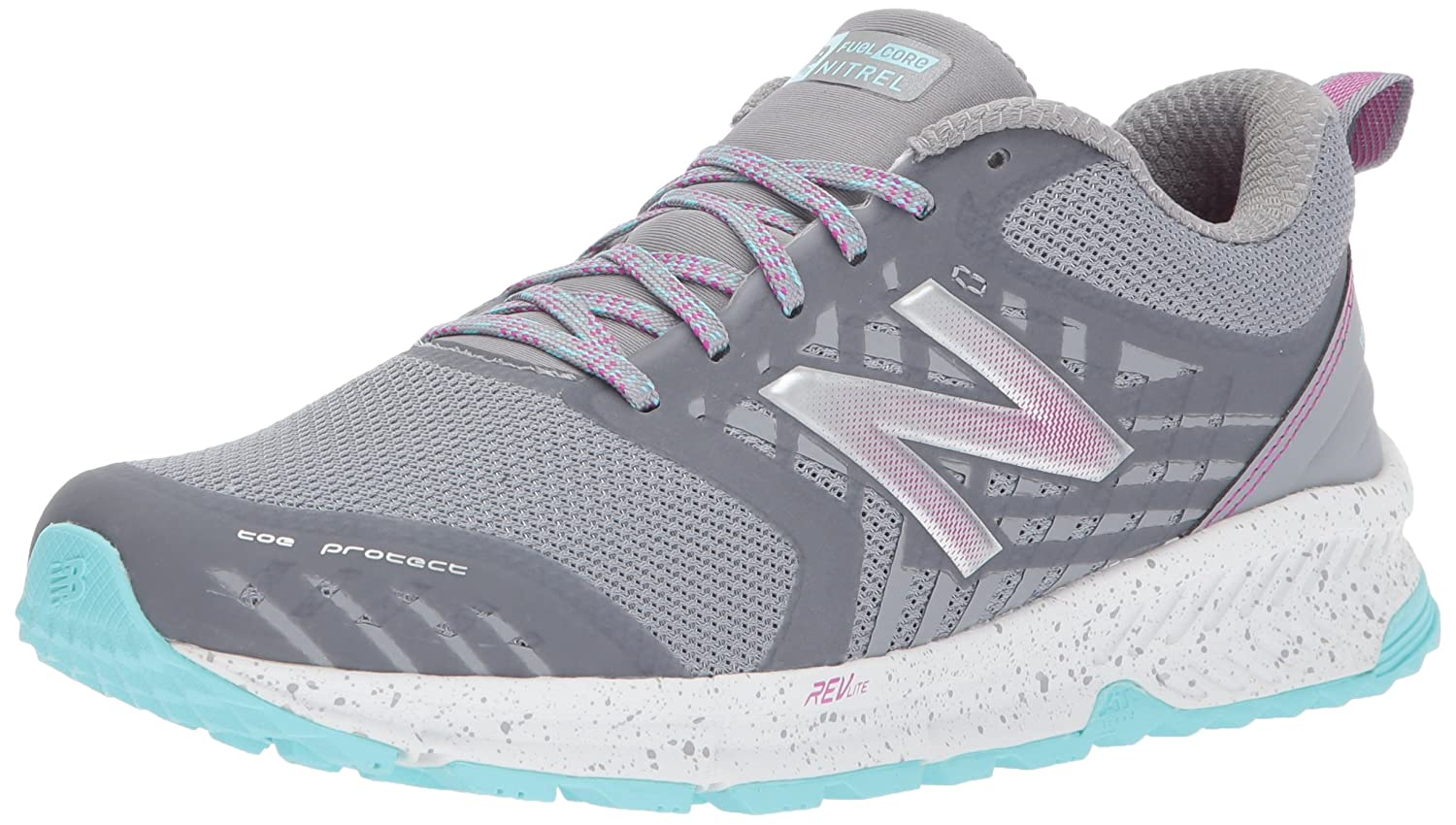 New Balance Women's Nitrel v1 FuelCore Trail Running Shoe B01MY1YALB 8.5 D US|Steel