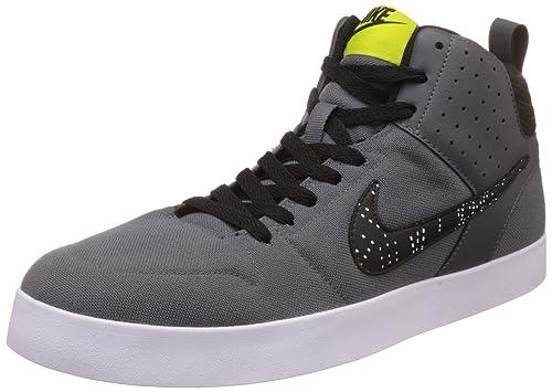 Nike Men s LITEFORCE III MID DrkGry BrghtCactus-Blk-Wht Sneakers-10 ... 7b783b774