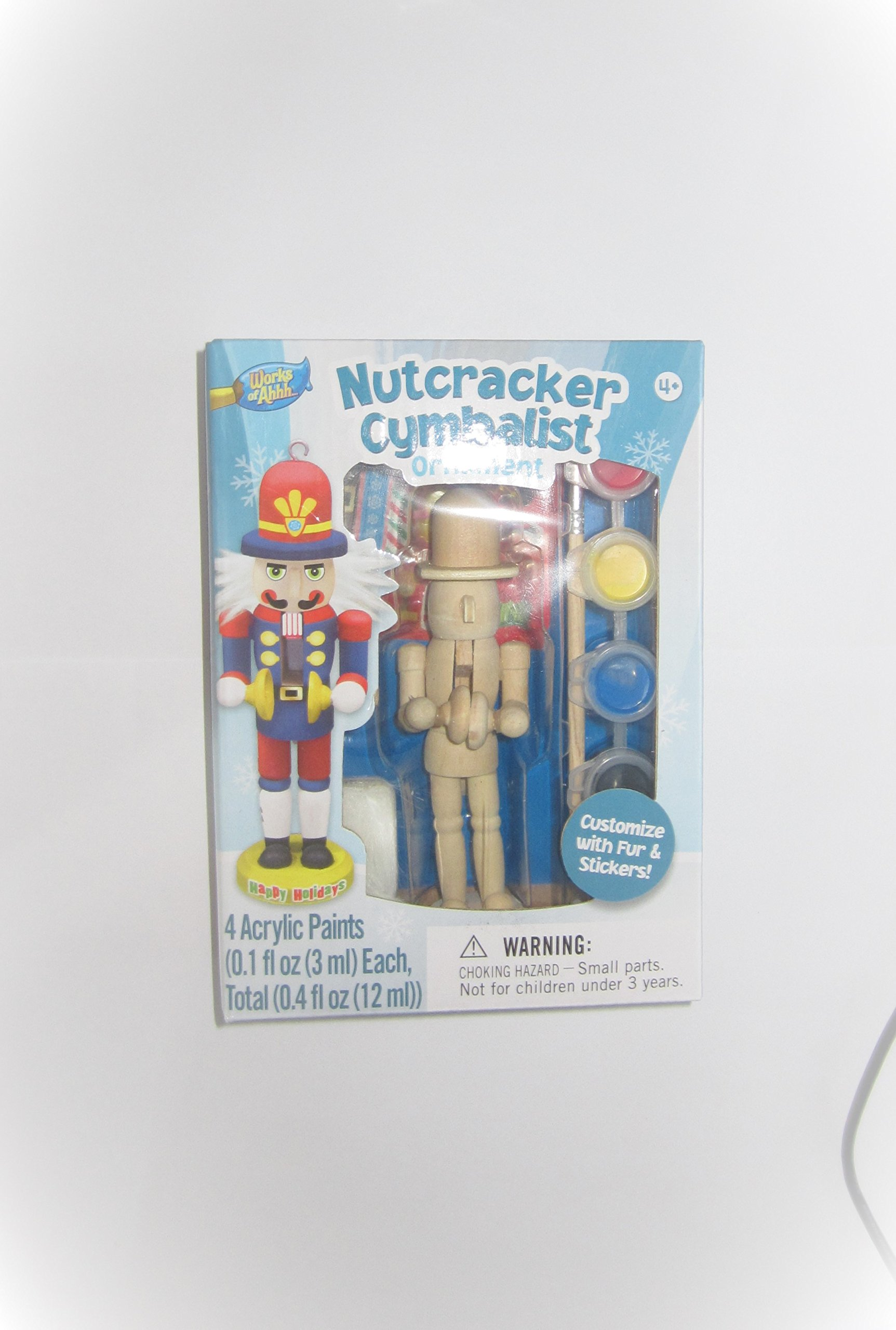 Masterpieces Works of Ahhh Nutcracker Cymbalist Ornament Paint Kit