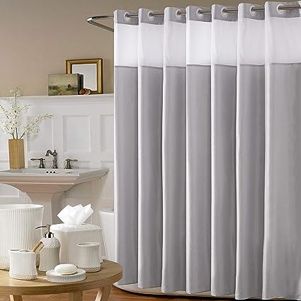 Avershine Sheer Shower Curtain Waterproof And Mildew Resistant 72 X 80 Inch Hookless