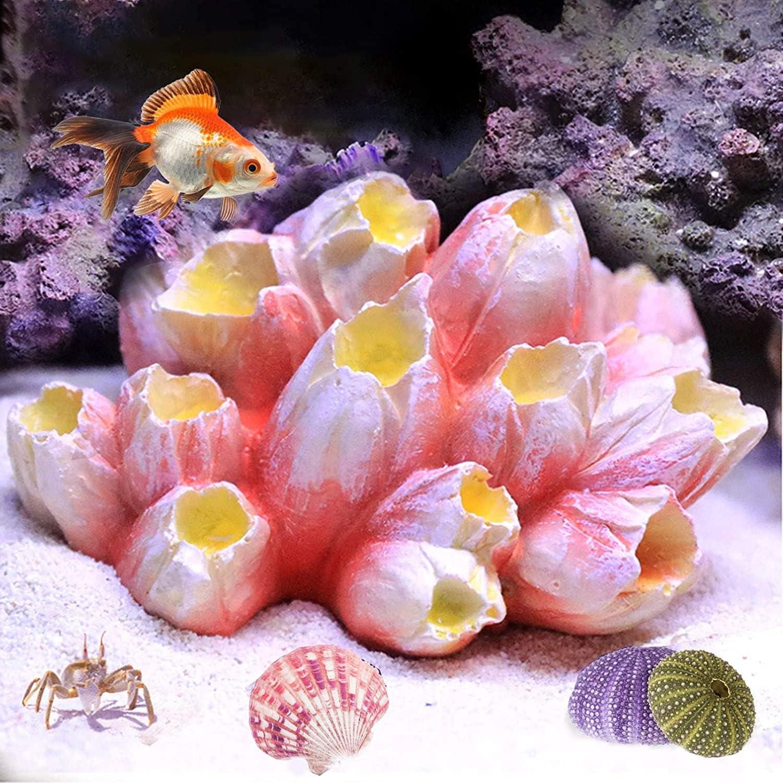 Besimple Artificial Polyresin Coral Ornament, Aquarium Reef Decor Resin Crafts Decoration for Fish Tank Aquarium Decoration