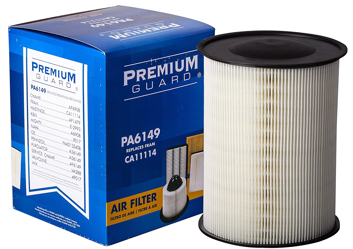 Premium Guard Air Filter Pa6149 Fits 2018 2013 Ford 7 3 Fuel Restriction Sensor Escape 2012 Focus 2016 2014 Transit Connect 2015 Lincoln Mkc