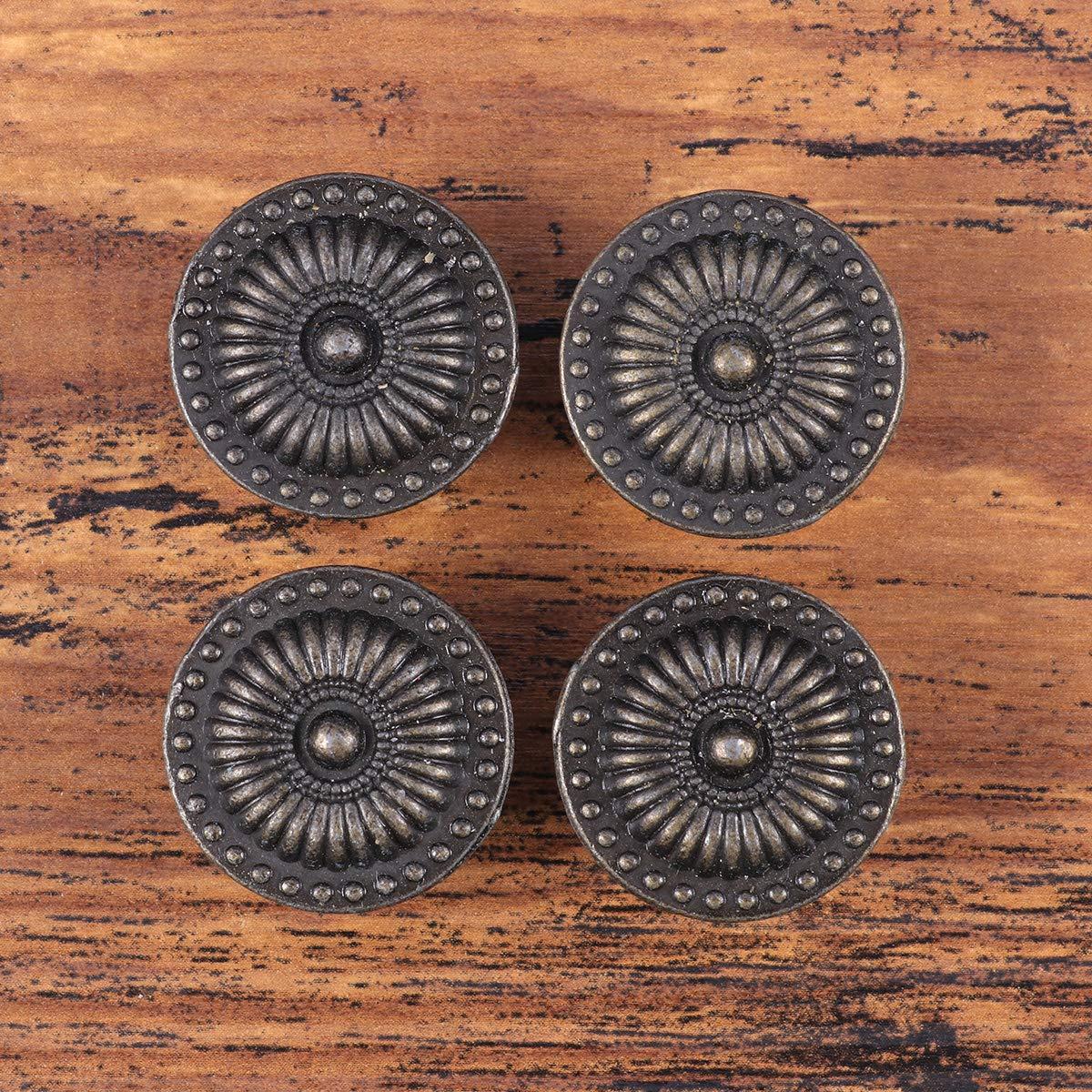 BESTOMZ 4pcs Tiradores para Puertas Armario Caj/ón Pull Handle Botones con Tornillos Vintage Bronce Muebles Botones Set