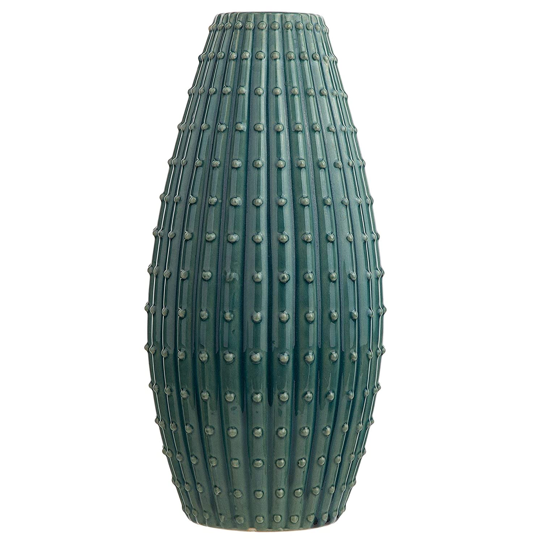 Beliani Vaso per Fiori Blu verde 41 cm DELFIA