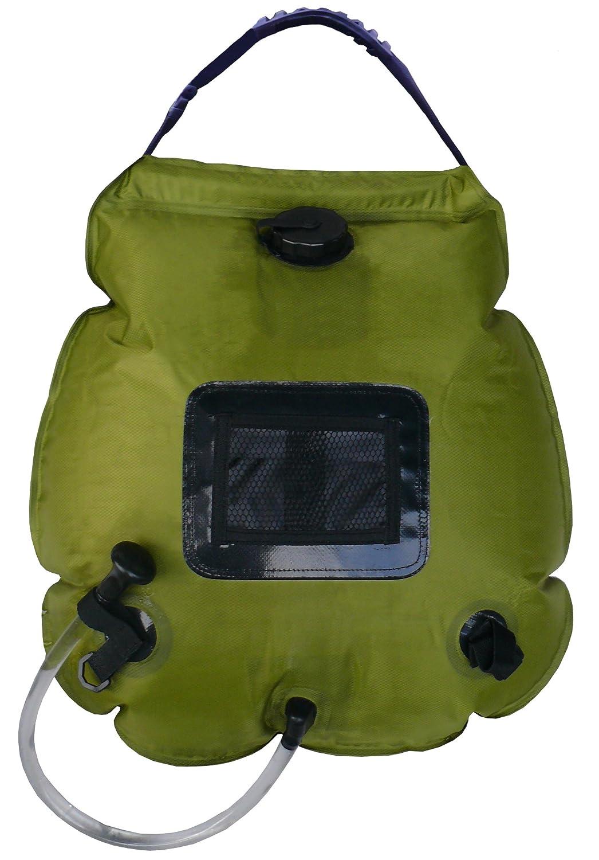 Cao - Calentador de Agua Solar (20 l), Color Verde Oliva: Amazon.es: Deportes y aire libre